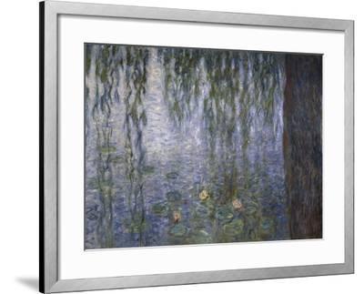 Water Lilies, Detail, 1840-1929-Claude Monet-Framed Giclee Print