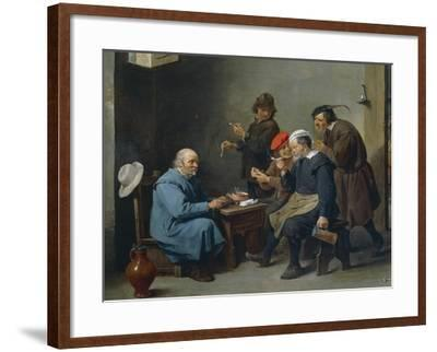 Man in White Hat, 1644-1645-David Teniers II-Framed Giclee Print