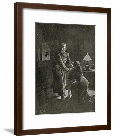 The Night Attack Place Des Barricades - Illustration from Depuis L'Exil, 19th Century-Emile Antoine Bayard-Framed Giclee Print