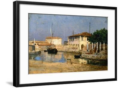 Dock in Venice-Federico Andreotti-Framed Giclee Print
