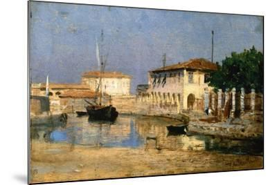 Dock in Venice-Federico Andreotti-Mounted Giclee Print