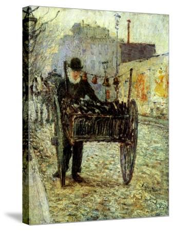 Old Man Carrying Bottles, 1892-Childe Hassam-Stretched Canvas Print