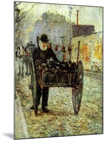 Old Man Carrying Bottles, 1892-Childe Hassam-Mounted Giclee Print