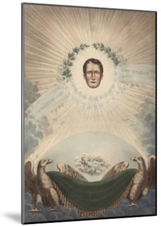 Allegory of Napoleon Surrounded by a Laurel Wreath and a Star- De Labarussias-Mounted Giclee Print