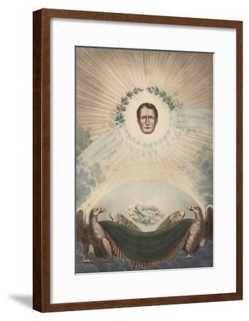 Allegory of Napoleon Surrounded by a Laurel Wreath and a Star- De Labarussias-Framed Giclee Print