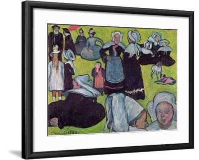 Bretons in a Field Or, the Pardon, 1888-Emile Bernard-Framed Giclee Print