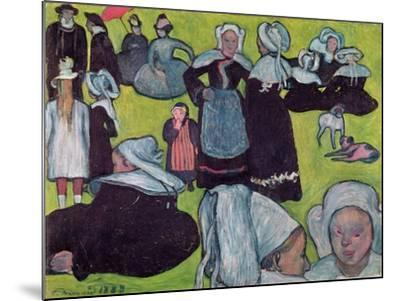 Bretons in a Field Or, the Pardon, 1888-Emile Bernard-Mounted Giclee Print