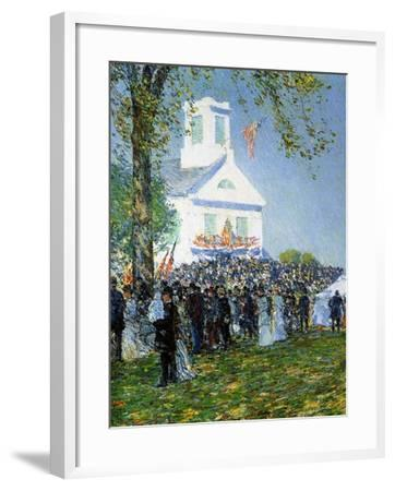 An American Country Fair, 1890-Childe Hassam-Framed Giclee Print