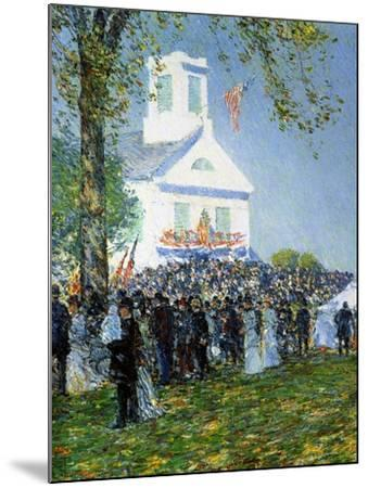 An American Country Fair, 1890-Childe Hassam-Mounted Giclee Print