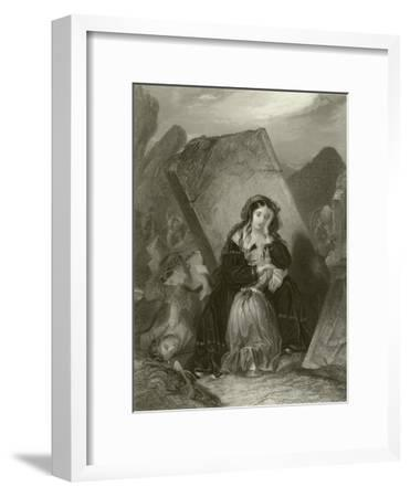 The Earthquake-Edward Henry Corbould-Framed Giclee Print