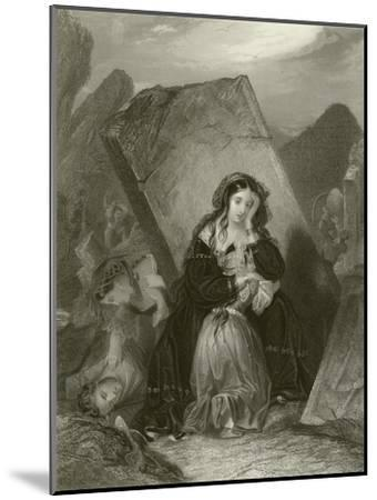 The Earthquake-Edward Henry Corbould-Mounted Giclee Print