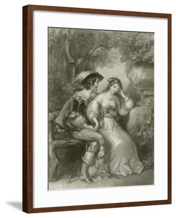Enamoured Days-Edward Henry Corbould-Framed Giclee Print