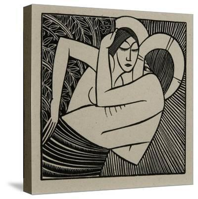 Stay Me with Apples, 1925-Eric Gill-Stretched Canvas Print