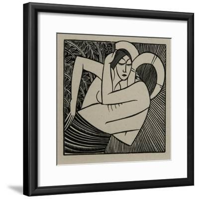 Stay Me with Apples, 1925-Eric Gill-Framed Giclee Print
