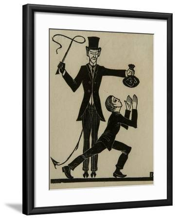 The Monkey and the Whip-Eric Gill-Framed Giclee Print