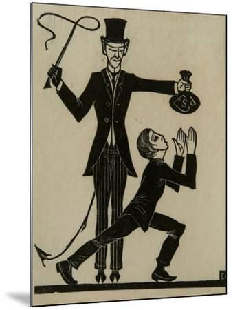 The Monkey and the Whip-Eric Gill-Mounted Giclee Print