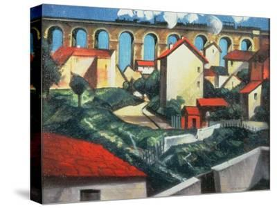 The Viaduct-Christopher Richard Wynne Nevinson-Stretched Canvas Print