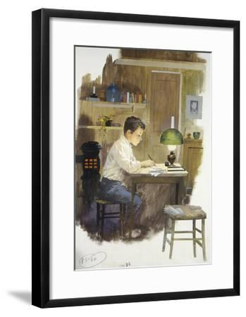 The Little Florentine Scribe, from Heart-Edmondo De Amicis-Framed Giclee Print