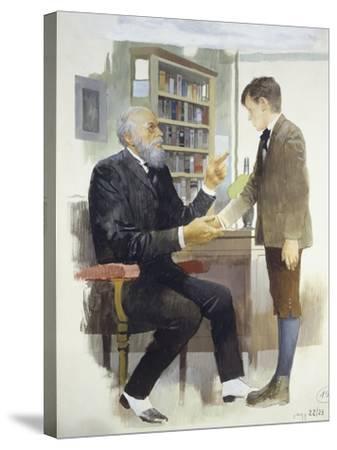 The Headmaster, from Heart-Edmondo De Amicis-Stretched Canvas Print