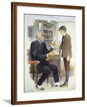 The Headmaster, from Heart-Edmondo De Amicis-Framed Giclee Print