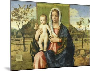 Madonna and Child Blessing-Giovanni Bellini-Mounted Giclee Print