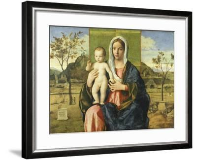 Madonna and Child Blessing-Giovanni Bellini-Framed Giclee Print