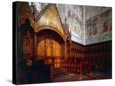 Wooden Choir, Presbytery, Cathedral of Orvieto, Italy-Giovanni Ammannati-Stretched Canvas Print