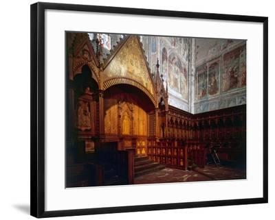 Wooden Choir, Presbytery, Cathedral of Orvieto, Italy-Giovanni Ammannati-Framed Photographic Print