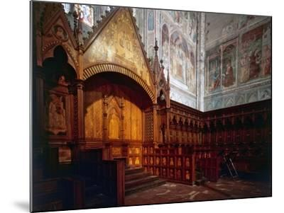 Wooden Choir, Presbytery, Cathedral of Orvieto, Italy-Giovanni Ammannati-Mounted Photographic Print