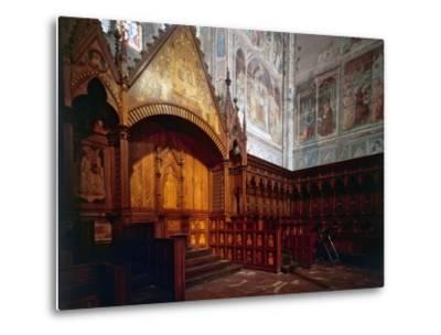 Wooden Choir, Presbytery, Cathedral of Orvieto, Italy-Giovanni Ammannati-Metal Print