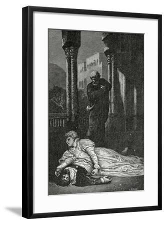 Dona Sol Dies on Hernani'S Corpse, 19th Century-Francois Nicolas Chifflart-Framed Giclee Print