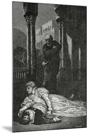 Dona Sol Dies on Hernani'S Corpse, 19th Century-Francois Nicolas Chifflart-Mounted Giclee Print