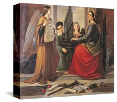 St Cecilia-Francesco Cogorno-Stretched Canvas Print