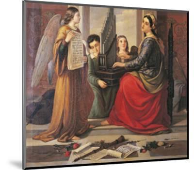 St Cecilia-Francesco Cogorno-Mounted Giclee Print