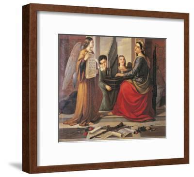St Cecilia-Francesco Cogorno-Framed Giclee Print