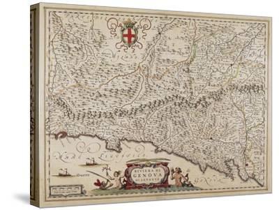 Map of Eastern Liguria Region-Giovanni Antonio Magini-Stretched Canvas Print
