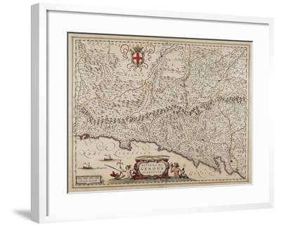 Map of Eastern Liguria Region-Giovanni Antonio Magini-Framed Giclee Print