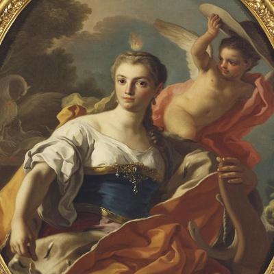 Allegory of Generosity-Francesco de Mura-Framed Giclee Print