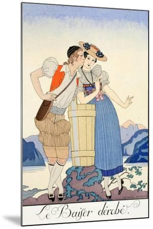 The Stolen Kiss-Georges Barbier-Mounted Giclee Print