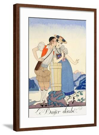The Stolen Kiss-Georges Barbier-Framed Giclee Print