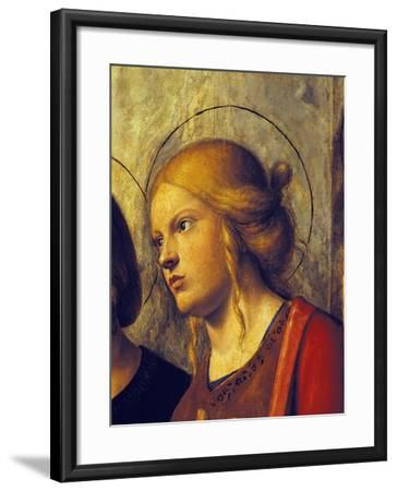 Saint's Face, Detail from Madonna with Child and Saints-Giovanni Battista-Framed Giclee Print