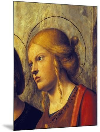 Saint's Face, Detail from Madonna with Child and Saints-Giovanni Battista-Mounted Giclee Print