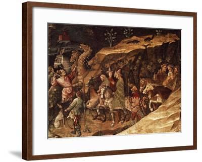 Wise Men on their Way to Bethlehem, Circa 1420-Giovanni Da Modena-Framed Giclee Print