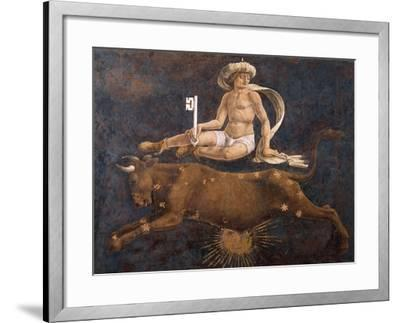 Bull and Dean, Detail from Sign of Taurus, Scene from Month of April-Francesco del Cossa-Framed Giclee Print