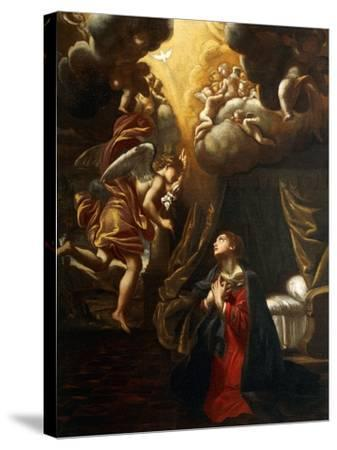 Annunciation-Giovanni Lanfranco-Stretched Canvas Print
