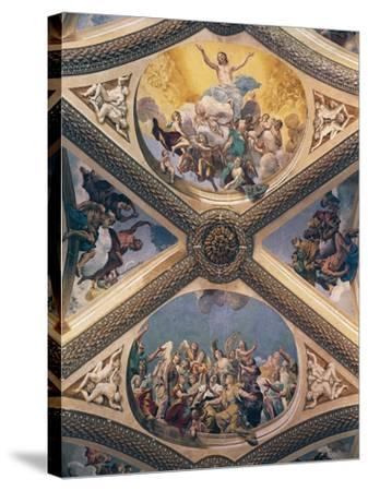 Glory of Christ, Fresco-Giovanni Lanfranco-Stretched Canvas Print