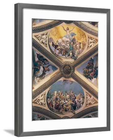 Glory of Christ, Fresco-Giovanni Lanfranco-Framed Giclee Print