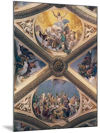 Glory of Christ, Fresco-Giovanni Lanfranco-Mounted Giclee Print