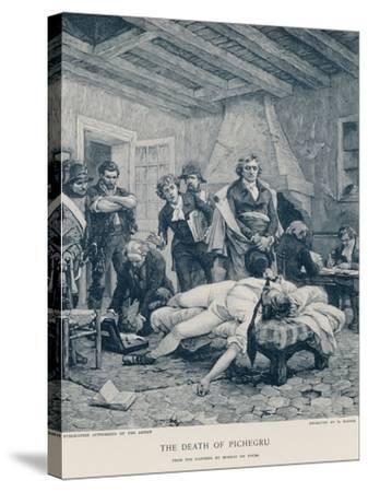 The Death of Pichegru-Georges Moreau De Tours-Stretched Canvas Print