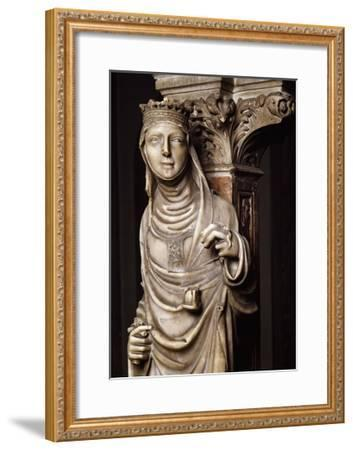 Justice, Detail from Tomb of Saint Peter Martyr, 1339-Giovanni Di Balduccio-Framed Giclee Print